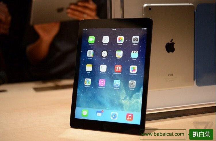 免费直邮国内!全新苹果iPad Air 16GB版平板Wi-Fi 特价$429.99-20=409.99