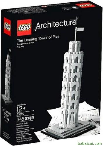 史低!LEGO乐高建筑系列21015比萨斜塔