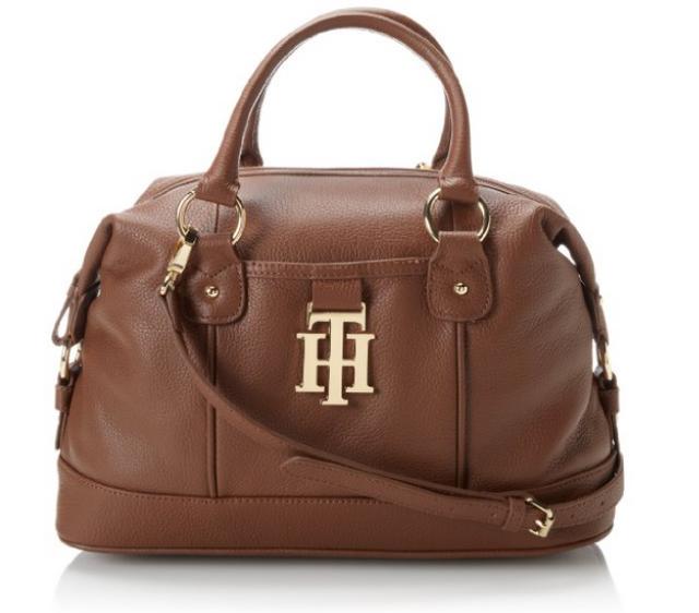 史低~Tommy Hilfiger女士时尚真皮斜挎包/手提包原价$178,现摩卡色和米色
