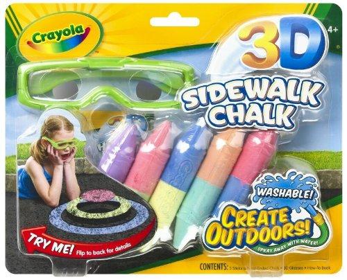 Amazon:Crayola 绘儿乐儿童3-D彩绘粉笔 + 3D眼镜套装原价$9.99现特价$5.55