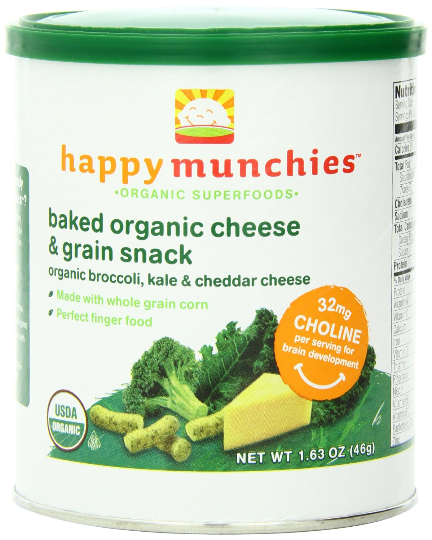 新史低!happy baby禧有机花椰菜奶酪脆条6罐$15.29