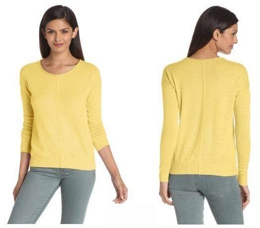 囤羊绒衫的好时机~Christopher Fischer女士纯羊绒衫 黄色款特价$51,历史新低了