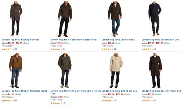 Amazon:快抢啊!大量LONDON FOG 伦敦雾 秋冬款男装