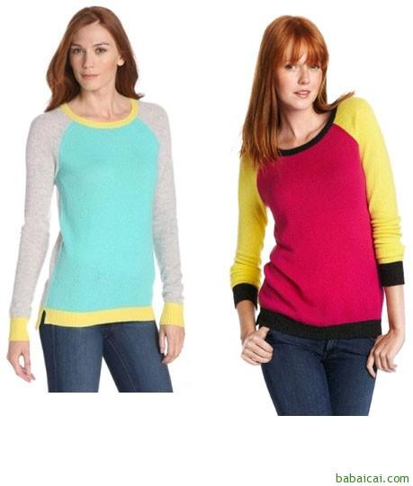 Amazon:Christopher Fischer女士纯羊绒衫 多色 3折 新低$59