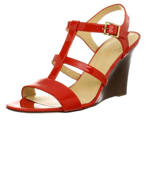Amazon:Kate Spade New York Women's Irina Wedge Sandal 女士坡跟凉鞋 $98.4