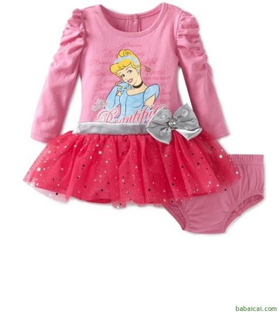 Amazon:迪士尼婴儿女孩婴儿2件灰姑娘连衣裙套装 $12.00+$5.00,