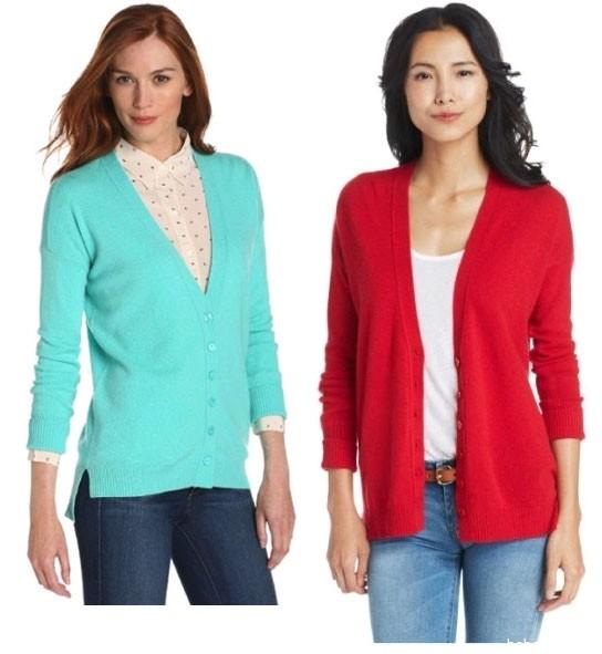 Amazon: Christopher Fischer Women's 100% Cashmere女士羊绒开衫 $68