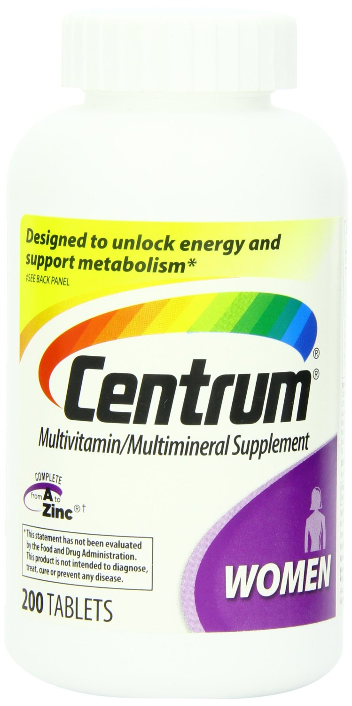 Centrum善存成年女性复合维生素200粒ss后特价价$17.13
