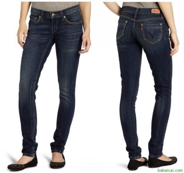 白菜~Levi's李维斯524系列女士修身显瘦小脚牛仔裤Night Cap色特价$23 鞋服新人8折$18.4