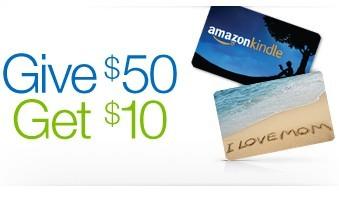 爆料!大家都去检查邮箱试试运气,亚马逊部分用户买$50礼品卡 送$10代金券券