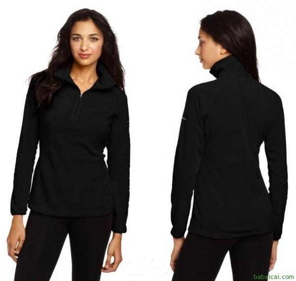 Columbia哥伦比亚女士抓绒衣Black黑色特价$21.46 鞋服8折后$17.17