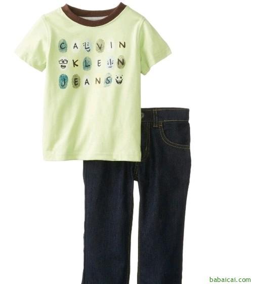 Calvin Klein卡尔文·克莱恩男孩舒适套装 原价$49.5