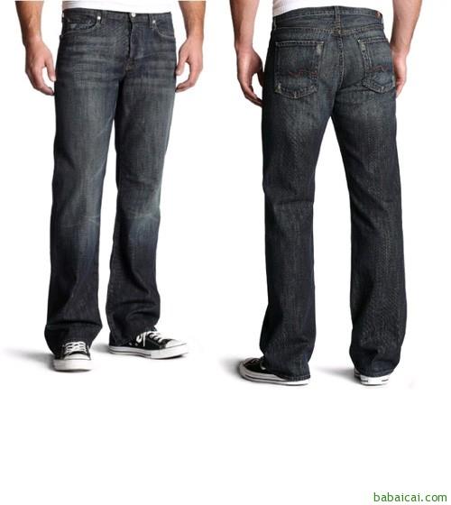 7 For All Mankind 美国原产男士牛仔裤 $59.98($74.97 鞋服8折)