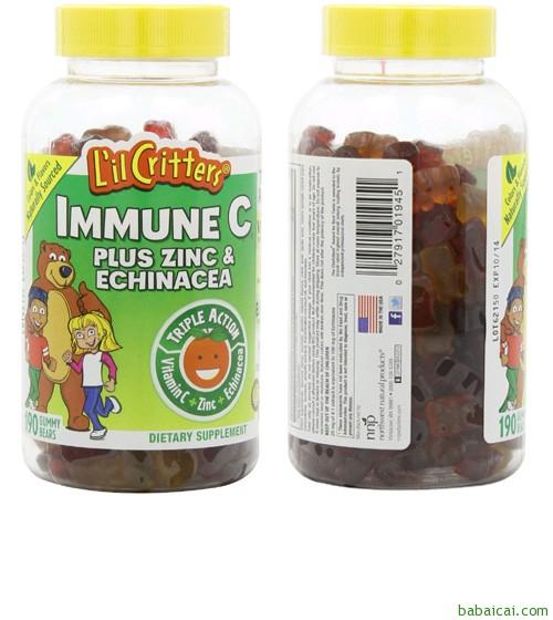熊宝宝维生素C加锌紫椎菊软糖190粒 $9.85(10.85-1)