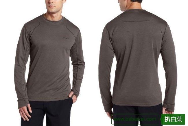 大码实惠!哥伦比亚Columbia 男士防晒长袖T恤Boulder色$26.4
