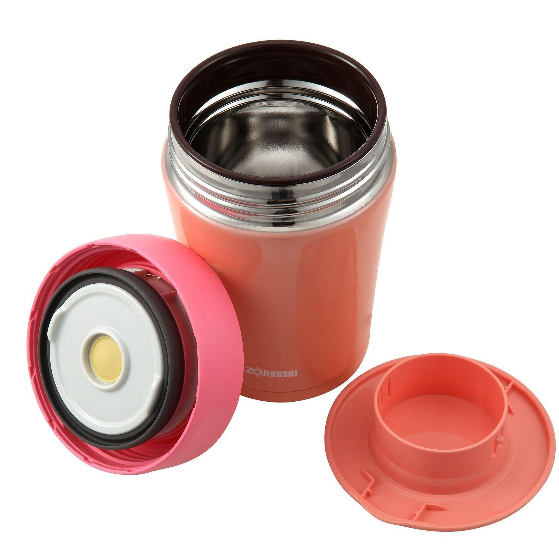 历史新低~象印Zojirushi真空隔热不锈钢食品保温杯珊瑚橙原价$45,特价$34.99 产地泰国
