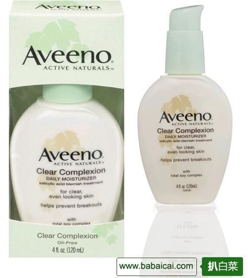 Aveeno 艾维诺 大豆抗痘保湿乳液120ml 新低$8.59($11.46 下单75折)