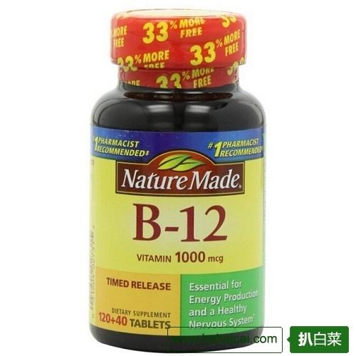 Nature Made莱萃美维生素B-12 1000mg*160粒$11.17 S&S后$10.61