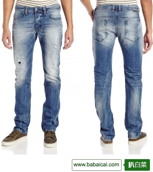 降$9,DIESEL 迪赛 男士修身直筒牛仔裤 3.8折 $75.76
