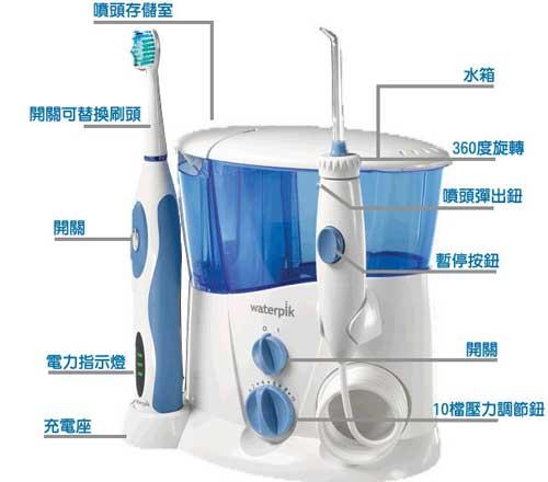 亚马逊海外购:Waterpik洁碧 WP-900 旗舰型冲牙器(水牙线+电动牙刷) 特价¥405,直邮免运费,含税到手仅¥466