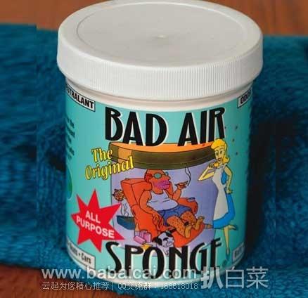 亚马逊海外购:白宫御用! BAS Bad Air Sponge天然无毒空气净化剂/除甲醛净化剂 1.1磅*6罐 限时特价¥309,会员下单95折,实付¥292.55包邮
