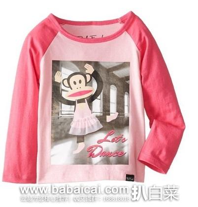 Amazon:|(超值)大嘴猴Paul Frank女宝经典圆领短袖T恤最低$8.50-内附男宝女宝女士大嘴猴专区入口
