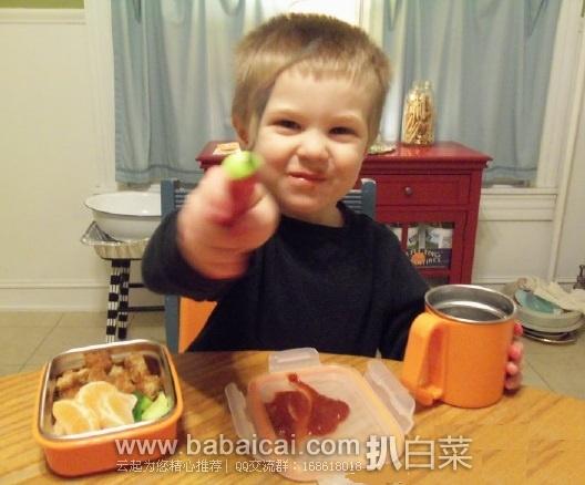 亚马逊海外购:ThinkBaby 儿童不锈钢密封餐具套装/隔热碗4件套橙色款 特价¥195.15,凑单直邮免运费,含税到手约¥218