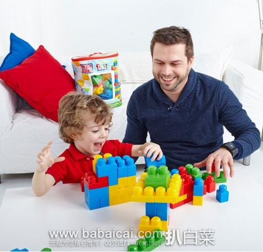 亚马逊海外购:Mega Bloks 美家宝 First Builders 80片 经典积木玩具 特价¥104.51,凑单直邮免运费,含税到手历史新低¥118