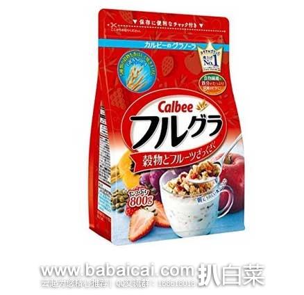 日本亚马逊:Calbee卡乐比水果果仁谷物营养麦片 800g×6袋 特价3853日元,S&S后实付实付3468(¥209)