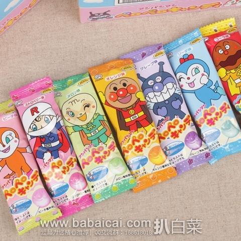 日本亚马逊:不二家 面包超人护齿水果棒棒糖25支/盒 好价709日元(¥45)