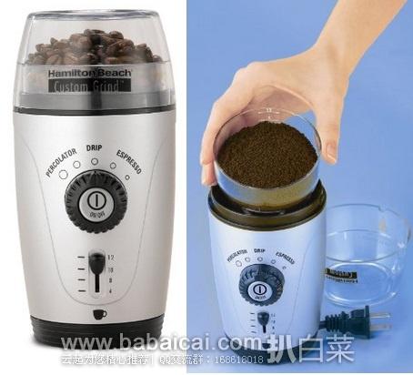 Amazon:史低!Hamilton汉密尔顿一触式咖啡研磨机