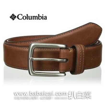 亚马逊海外购:Columbia 哥伦比亚 男士针扣真皮皮带 35mm宽 现¥64.41起,凑单直邮免运费,含税到手仅¥71起