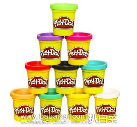 亚马逊海外购:Play-Doh 孩之宝 培乐多 橡皮泥10色套装 特价¥55.27,凑单直邮免运费,含税到手新低¥62