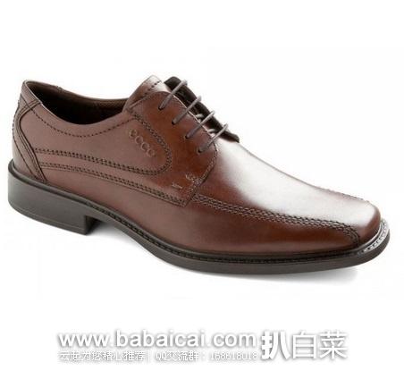 ECCO 爱步 经典商务款 新泽西正装真皮男鞋系带款 原价$160,现$91.94,到手¥725,天猫¥1899