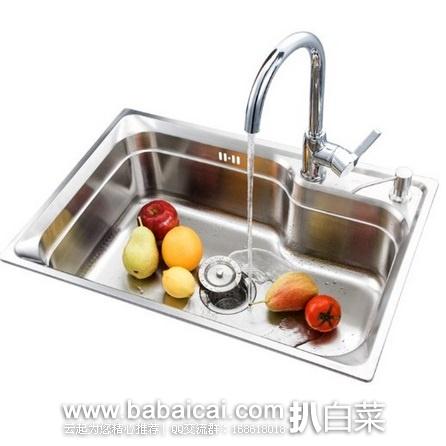 亚马逊中国:ENZORODI 德国安住 全铜净铅厨房龙头304不锈钢 单槽水槽套装 原价¥2030