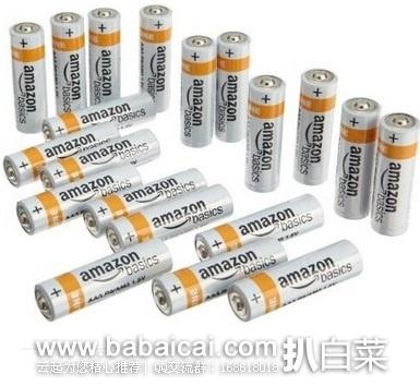 亚马逊中国:亚马逊倍思 AA(5号)碱性电池20节装