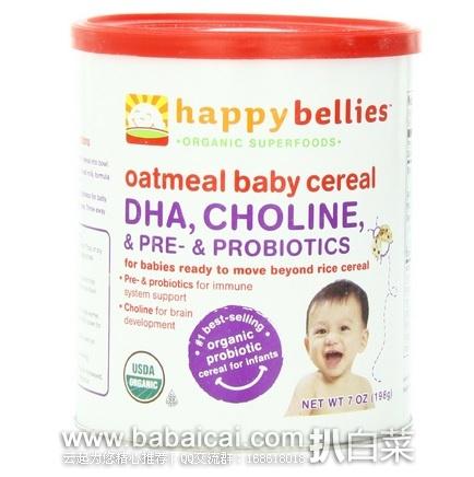 亚马逊海外购:happy baby 禧贝婴儿2段有机燕麦米粉6罐 特价¥189.18,凑单直邮免运费,含税到手¥222