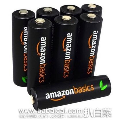 亚马逊中国:日本产 亚马逊倍思 五号镍氢充电电池2500 mAh*8节特价¥120包邮,七号850 mAh*8节特价¥76包邮