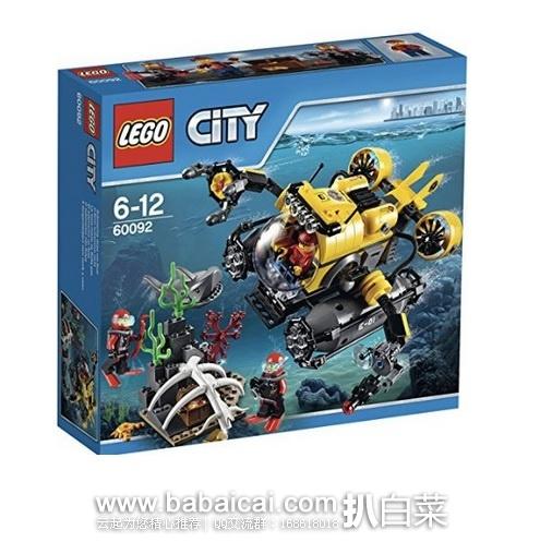 亚马逊中国:Lego 乐高 60092 城市组 深海探险潜水艇 限时秒杀价¥195,领券减¥20实付¥175包邮