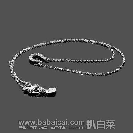 Swarovski施华洛世奇官网: Towards 银色马蹄形水晶吊坠锁骨链 现历史新低$47,到手仅¥330