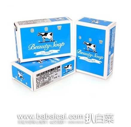 日本亚马逊:日本老字号 Cow 牛乳石碱 Beauty 清爽型牛奶香皂 85g*10个 好价662日元(¥40),到手约¥8/块