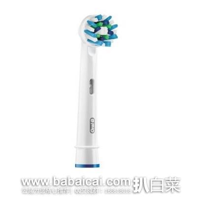 亚马逊海外购:Oral-B 欧乐B EB50 多角度清洁型替换刷头*10支 特价¥192.06,凑单直邮免运,含税到手¥20.9/支