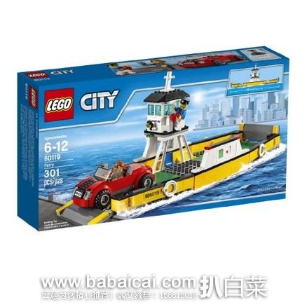 LEGO 乐高 60119 城市系列 之 轮渡 共301颗粒 原价$30,现历史低价$15.99,到手¥165