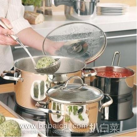 亚马逊海外购:白菜,随时涨价!WMF 完美福 Provence Plus 5件套不锈钢锅具 特价¥¥622.78,直邮免运,含税到手历史新低仅¥679