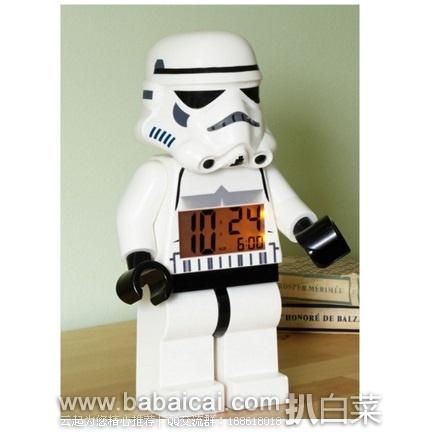 亚马逊海外购:LEGO 乐高 星球大战 突击兵白兵闹钟 特价¥135.31,凑单直邮免运费,含税到手仅¥150