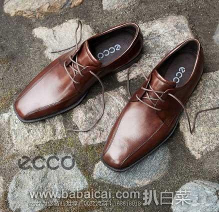 ECCO 爱步 男士 爱丁堡系列 真皮三眼系带 皮鞋 现,$71.39,到手约¥575,同款天猫双11还要¥1279