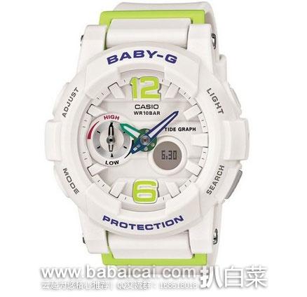 日本亚马逊:Casio卡西欧BABY-G 女款电子表 BGA-180-7B2JF 防震防摔防水 现11210日元,下单返1458日元积分,返点折后相当于9752日元(¥605)