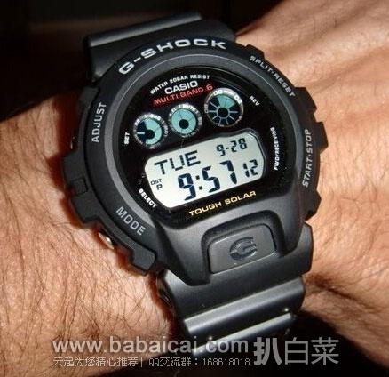 Casio 卡西欧 GW6900-1 三眼式 经典款6局太阳能电波表 原价$130,现特价$66.3,到手¥527,国内¥1350