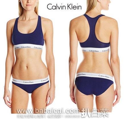 Amazon:Calvin Klein 男女士内衣特价专场,女士运动BRA+内裤套装 特价$19.99,到手仅¥160
