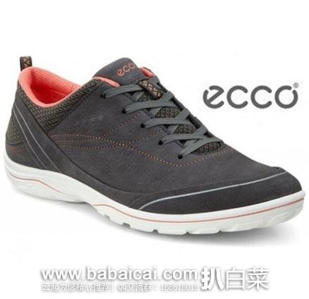 英国亚马逊:ECCO 爱步 Arizona 女士 户外磨砂牦牛皮休闲鞋 降至£42.49,直邮退税后£35.41,直邮含税到手¥415,国内¥1599+